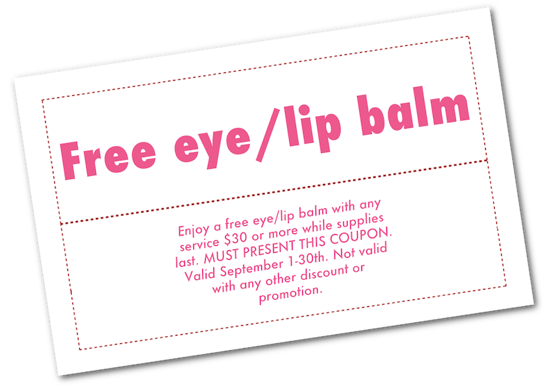 free lip and eye balm coupon september